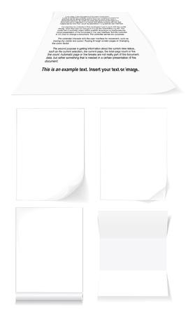 white blank for document vector Stock Vector - 4912009