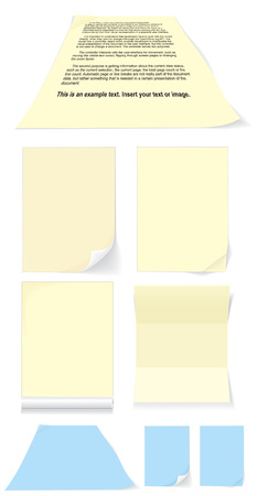 yellow blank for document vector Vector