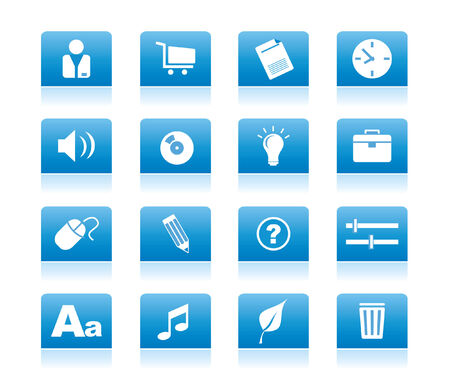 blue icons for web vector Stock Vector - 4912013
