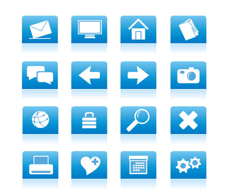 blue icons for web vector Stock Vector - 4912016