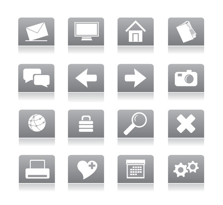 gray icons for web vector Stock Vector - 4912015