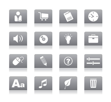 gray icons for web vector Stock Vector - 4912014