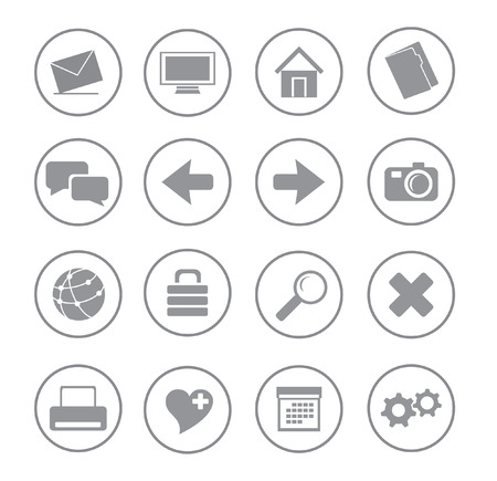 gray blue icons for web vector Vector