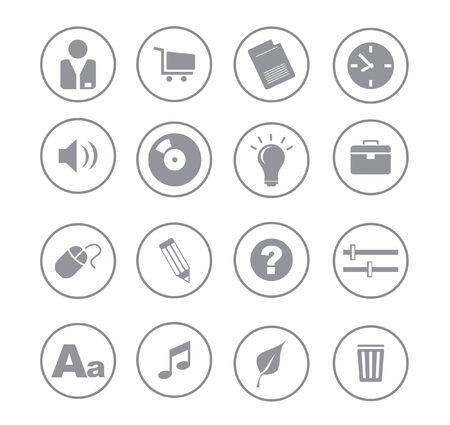 gray ball blue icons for web vector Vector