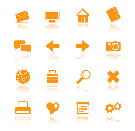 orange icons for web vector Vector