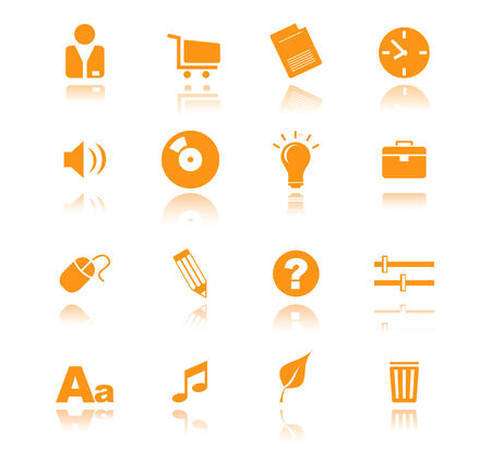 orange icons for web vector Stock Vector - 4912017