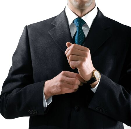 hands of businessman in the suit