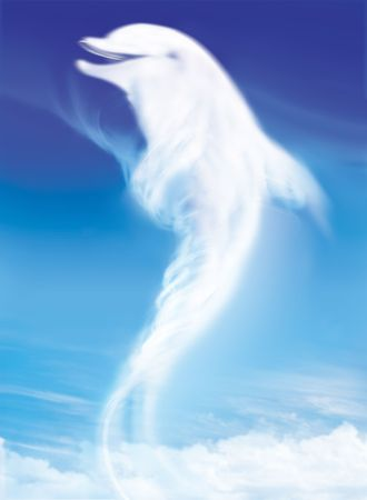 dolphin like white cloud on the blue sky Stock Photo - 4384010