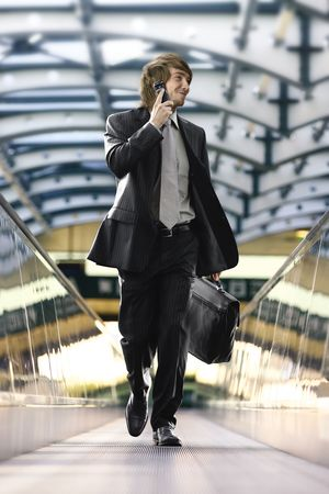 businessman in the airport photo