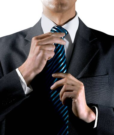 loosen up: hands of businessman that is a man of handsome presence