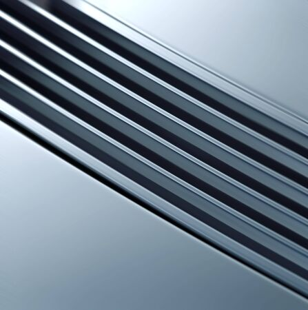 specular: shining metal texture in perspective for background Stock Photo