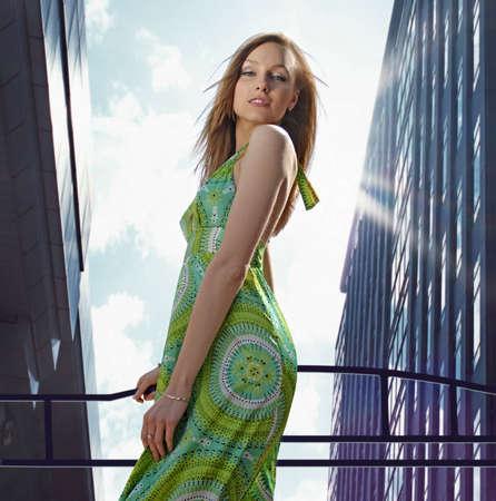 splendid: A beautiful blond rich lady in downtown