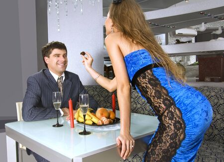 love appointment at restaurant of man and his secretary Stock Photo - 6026708
