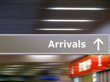airport sign: Tourist info signage in airport in international language