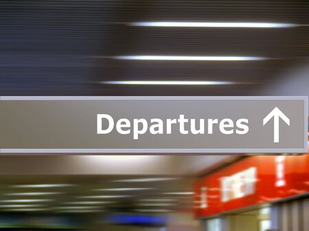 departures: Tourist info signage in airport in international language