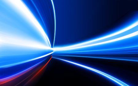 tunel: Engrasado luz sobre la carretera de alta velocidad de la ciudad de noche  Foto de archivo