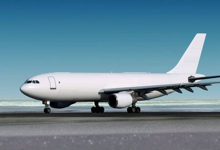 small cargo airplane is landing to runway of airport Stock Photo - 6796759