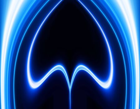 Greased light pattern on blue background personifying technological processes photo
