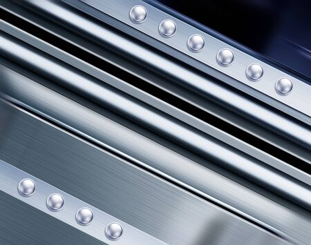 lagging: metal texture in perspective for background with rivets
