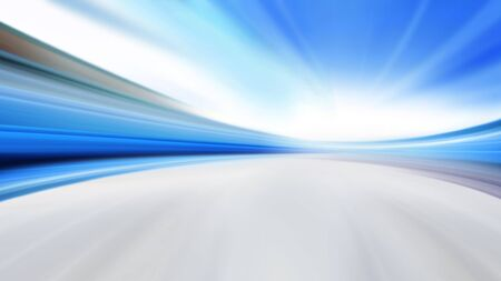 driving at high speed in empty road - motion blur Stock Photo - 8797381