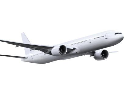 commercial airplane on white background  Standard-Bild