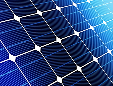 Close-up van solar cell batterij harnas energie van de zon