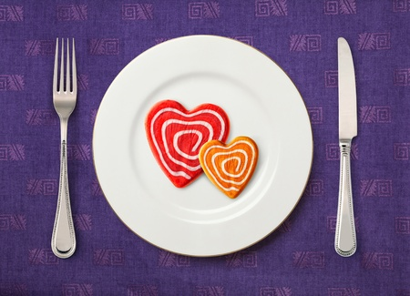enamoured: Dish for enamoured in Valentines day at restaurant
