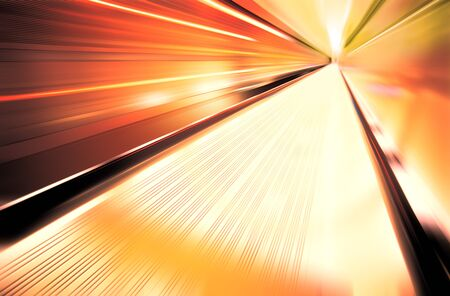 greased: Greased light on high-speed highway of tunnel Stock Photo