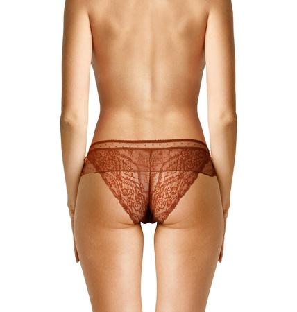 hintern: Nahaufnahme Rücken der schönen Frau