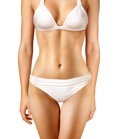 cuerpo femenino: cuerpo de la mujer sobre fondo blanco