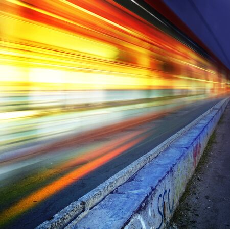 greased: Greased light on high-speed highway of night city