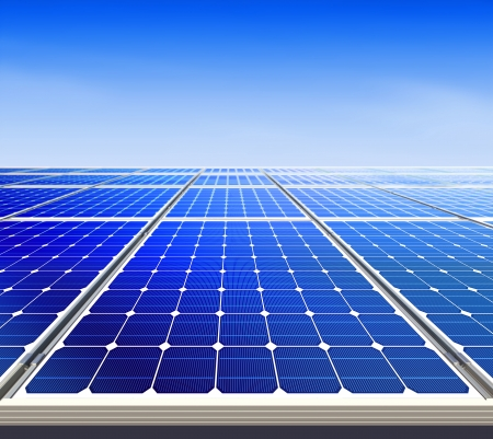 environmental protection: Renewable, alternative solar energy, sun-power plant  Stock Photo