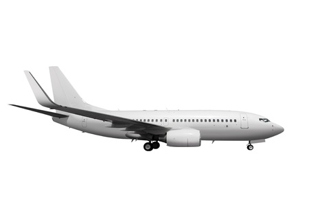 commercial white plane on white background with path 版權商用圖片 - 18680804