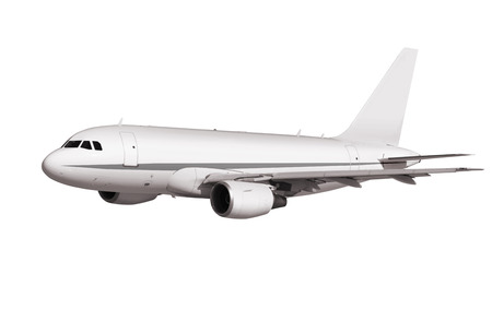 airpower: cargo plane on white background with path Stock Photo