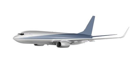 postponed: cargo plane isolated on white background Stock Photo