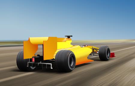 progressive: formula one race car on speed track - motion blur