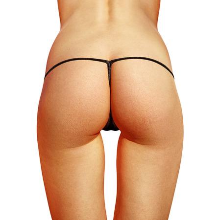 closeup of beautiful woman buttocks with bikini