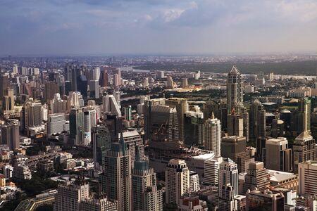 viewport: BANGKOK, THAILAND - DECEMBER 23: Aerial view of Bangkok on December 23, 2013 in Bangkok.
