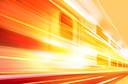 velocidad: Fondo del tren de alta velocidad con movimiento desenfoque al aire libre Foto de archivo