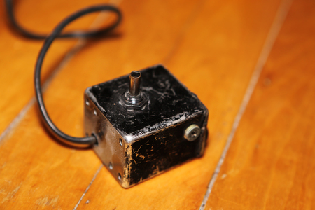 old vintage toggle switch and electric plug socket