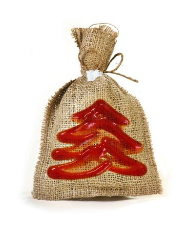 jobbing: Festive sack with symbol of new year