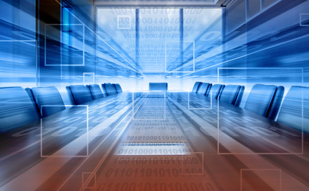 proiezione di sala riunioni digitali, ufficio moderno