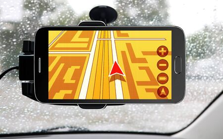 car service: portable device for navigation of car