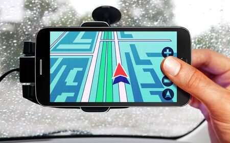 global positioning system: portable device for navigation of car