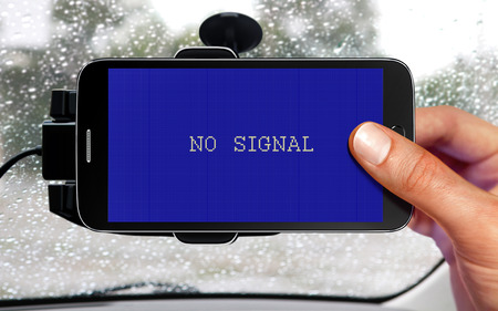 signal device: no signal from portable device for navigation of car