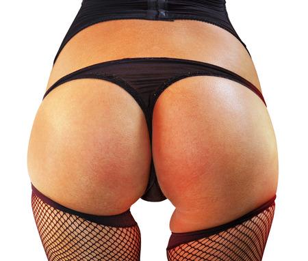 femmes nues sexy: gros plan de grandes belles fesses de femme