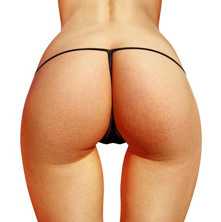 nalga: portarretrato de hermosa mujer con bikini nalgas