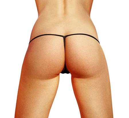 sexy female: closeup of beautiful woman buttocks with bikini