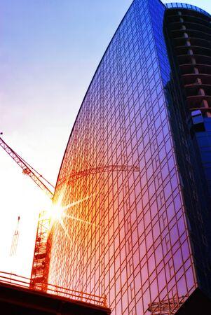 housebuilding: construction of skyscraper, engineering project