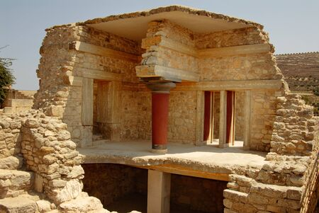 architectonics: palace ruins which are found during excavation on the island of Crete